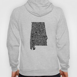 Typographic Alabama Hoody