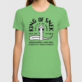 King Of Snek Funny Motorcycle Biker Style Snake T-shirt