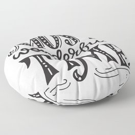 The most wonderful time retro typography Floor Pillow
