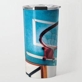 Basket ring blue red Travel Mug