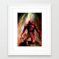 daredevil Framed Art Prints featuring DareDevil  by steve hall illustration