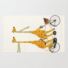 lets tandem giraffes Rug