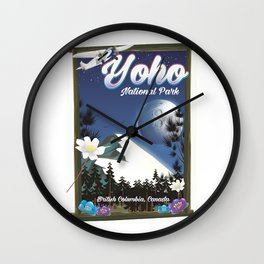 Yoho National park Canada Wall Clock