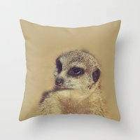 scarface Throw Pillows featuring the Scarface by LindaMarieAnson