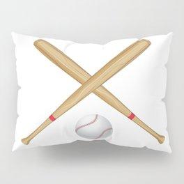 Baseball Bat and Ball Pillow Sham