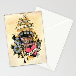 la vida mocha Stationery Cards