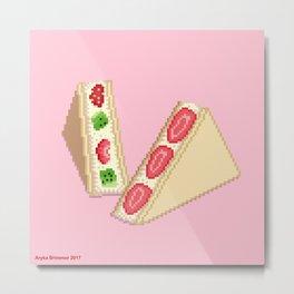 Fruit Sandwich Metal Print