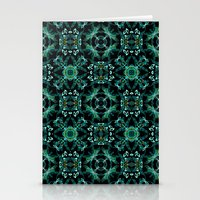 malachite Stationery Cards featuring Malachite fantasy by ESZAdesign™