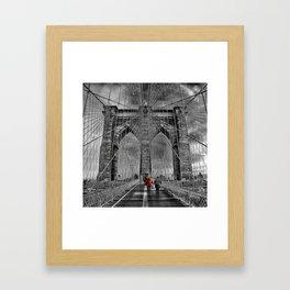 Bridge kid Framed Art Print