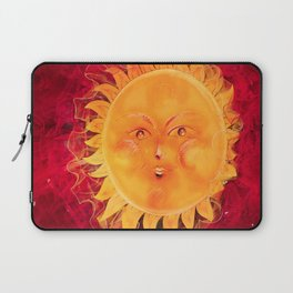 Digital painting of a chubby sun with a funny face Laptop Sleeve
