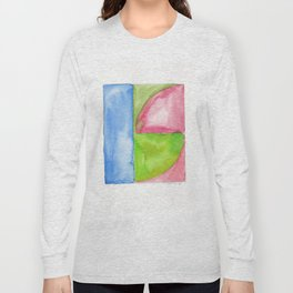 180818 Geometrical Watercolour 1 Long Sleeve T-shirt