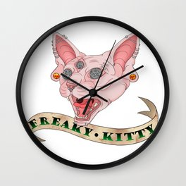 Freaky Kitty Wall Clock