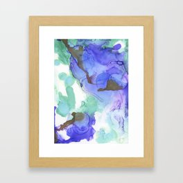 GREEN/PURPLE INK Framed Art Print