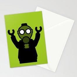 Apocalyse Minifigure wearing Gasmask by Customize My Minifig Stationery Cards