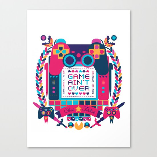 FOTOGRAMAS / GAME AIN'T OVER Canvas Print