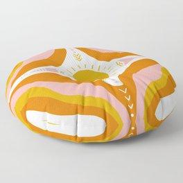 sunshine mandala Floor Pillow