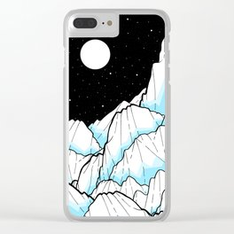 The Ice mountains Clear iPhone Case
