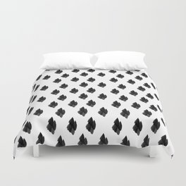 Falling for you black and white pattern Duvet Cover