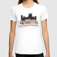 downton abbey T-shirts featuring Downton Abbey - Dollshouse Downton by Grace Venning