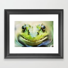 Frog Portrait Framed Art Print