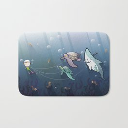 Looking for new friends Bath Mat