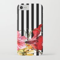 stripes iPhone & iPod Cases featuring FLORA BOTANICA | stripes by Cheryl Daniels