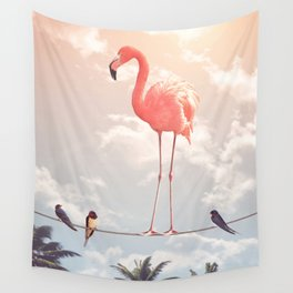 FLAMINGO & FRIENDS Wall Tapestry