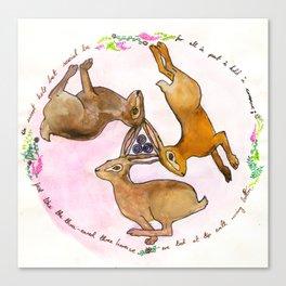 Three Hares Canvas Print
