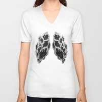 lungs V-neck T-shirts featuring Lungs by Sushibird