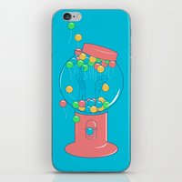 gumball iPhone & iPod Skins featuring Balloon, Gumball by Ava Guerrero