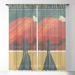Phobos Deimos Sheer Curtain