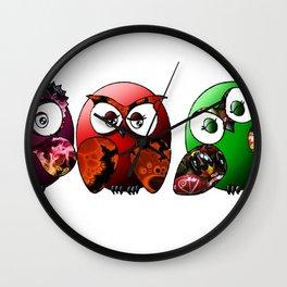 Owls Family Wall Clock