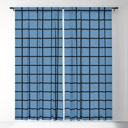 Double Lines – Black & Air Force Blue Blackout Curtain