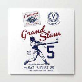Varsity Baseball Team - Grand Slam Metal Print