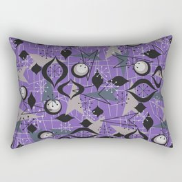 Mid Century Atomic Arrow Patterns Rectangular Pillow
