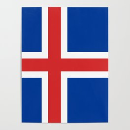Flag of Iceland - High Quality Image Poster