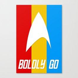 Boldly Go Starfleet Canvas Print