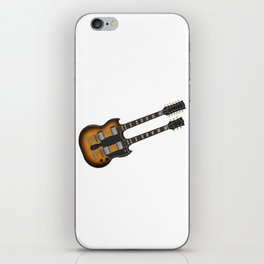 Double Neck Guitar iPhone Skin
