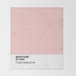 MANTONE® Fragile Masculinity Throw Blanket