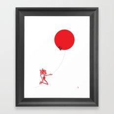 Inflated Ego (Redbone) Framed Art Print