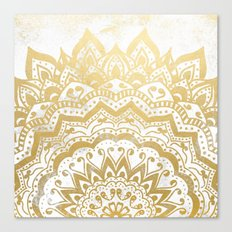 GOLD ORION JEWEL MANDALA Canvas Print