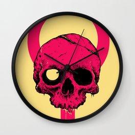 Pink Pop Skull Wall Clock