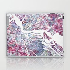 Amsterdam Map Laptop & iPad Skin