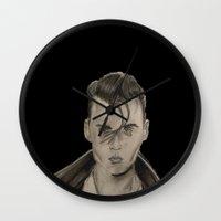 rockabilly Wall Clocks featuring Rockabilly by Brittany Ketcham
