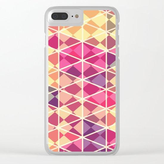 Love triangle pattern art Clear iPhone Case