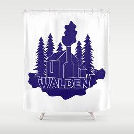 Walden - Henry David Thoreau (Blue version) Shower Curtain