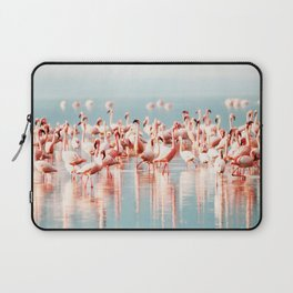 Pink Flamingo, Tropical Art Print By Synplus Laptop Sleeve