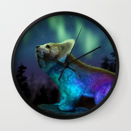 Red Panda - Stargazing Wall Clock