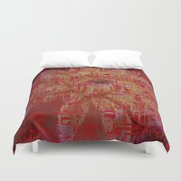 techno Duvet Covers featuring Techno Asian by DesignsByMarly