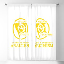 Anarchism: Against All Authority in Yellow Blackout Curtain